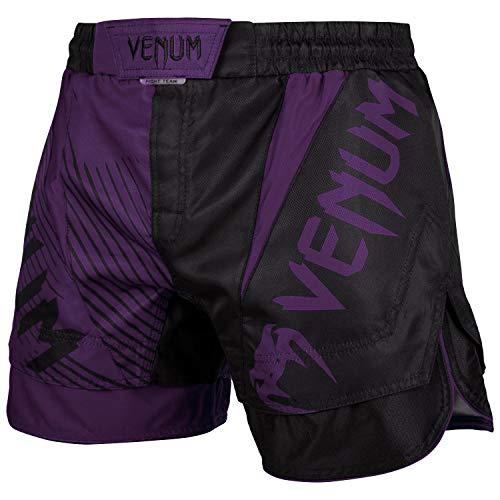 VENUM NoGi 2.0, Pantaloncini di Allenamento Uomo, Nero/Viola, L