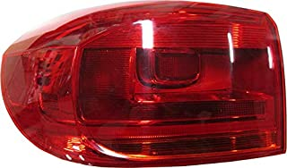 For 2011 2012 2013 2014 2015 2016 2017 Volkswagen Tiguan Tail Light Taillamp Driver Left Side Replacement VW2804110