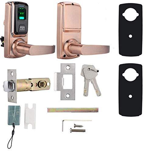 Smart Door Lock, 3 in 1 Electric Keyless Fingerprint Card Smart High Strength Zinc Alloy Lever Door Lock fengong