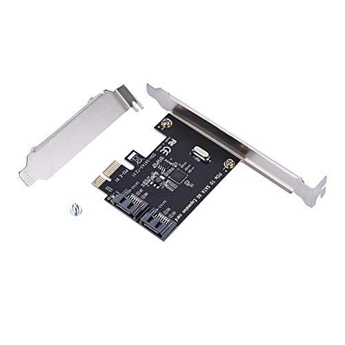 Zerone 2 Port PCI-E SATA Karte, PCI Express SATA 3.0 Controller 6 Gbit/s PCIe Karte SATA III Erweiterungskarte PCI-E Karten für Windows / Vista / Linux