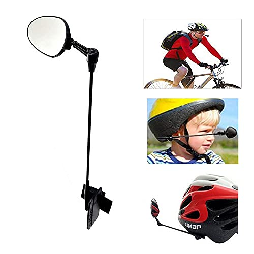 VEUNICEE Espejos para Bicicletas, Seguro Espejo Retrovisor para Bici Casco, 360 Grados...