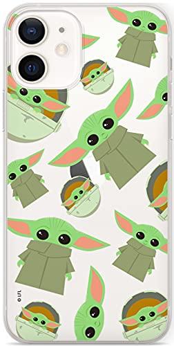 ERT GROUP Original & Offiziell Lizenziertes Star Wars Smartphone-Hülle für iPhone 12 Mini, optimale Smartphono-Form, stoßfest, Baby Yoda Transparent Print, SWPCBYODA1901