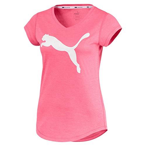 PUMA Damen T-Shirt Heather Cat Tee 517147 Bubblegum Heather XL