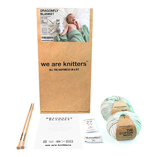 We Are Knitters, Dragonfly Blanket, Mint