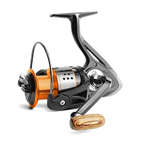 Danping Orange Schwarz Angelrollen 4.7: 1 Verhältnis Spinning Angelrolle Salzwasser Süßwasserfischen Metalldraht Rollen 1000-6000 Serie