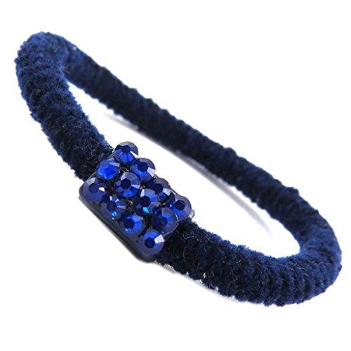 Les Trésors De Lily [P6058] - Elastique/Chouchou créateur 'Sissi' bleu - 15 mm