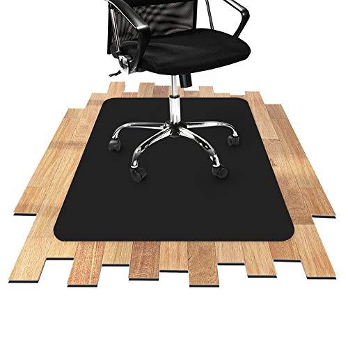 Tapis protège-sol Office Marshal® noir pour sols durs | amortit le bruit de pas + résistant à la saleté | tailles diverses - 90x120cm