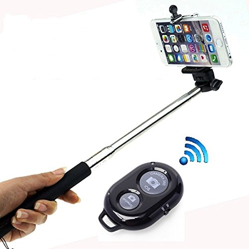 APOKIN Monopod Palo Selfie Universal con Mando Disparador Bluetooth Control Remoto...