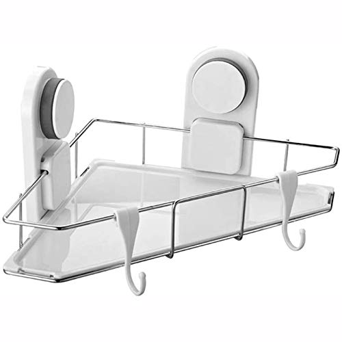 LZMXMYS Shower Caddy Shelf Bathroom Shelf Stainless Steel Shower Caddy Corner Shower Rack No Drilling Organizer Drill Free with Glue or Wall Mount with Screws