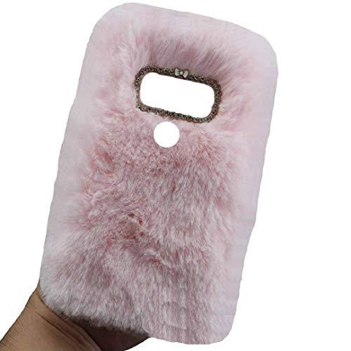 TAITOU - Funda para LG K41S/K51S (hecha a mano, con forma de bola de lana, cálida y suave, diseño especial, ligera, delgada, protección para LG K41S/K51S, color rosa