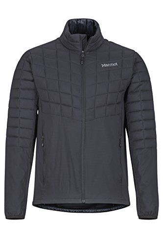 Marmot Herren Ultra-leichte Isolierte Winterjacke, Warme Outdoorjacke, Wasserabweisend, Winddicht Featherless Hybrid, Black, XL, 74000