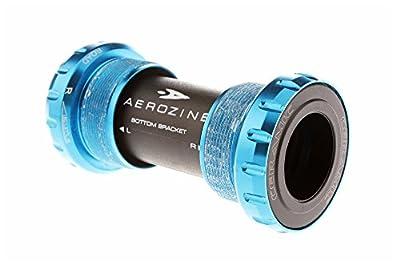 Aerozine BB-08-RD Road Bottom Bracket Cycling BB/Ceramic Bearing/for Cyclocross CX Fixed Gear Time Trial Triathlon bike/English Threaded BSA/68mm/84g (Blue)