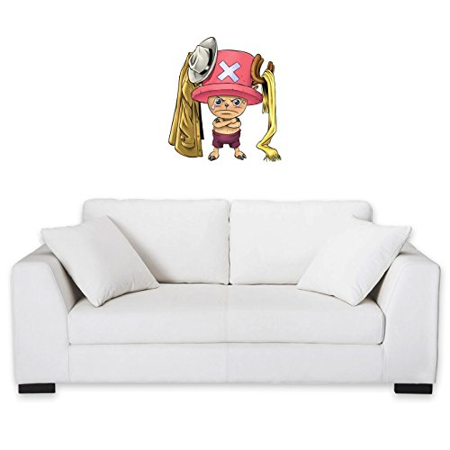 Okiwoki Sticker Mural One Piece parodique Tony Tony Chopper : Etendage Pirate : (Parodie One Piece)