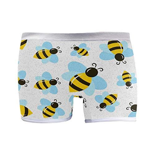PUXUQU Damen Boxershorts Panties Schön Tier Honig Biene Unterwäsche Unterhosen Pants