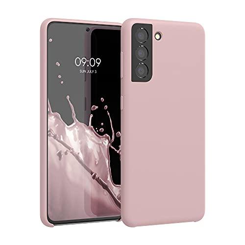 kwmobile Cover Compatibile con Samsung Galaxy S21 - Cover Custodia in Silicone TPU - Back Case Protezione Cellulare Rosa Antico Matt