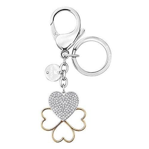 Swarovski Damen-Anhänger Cupid Handtaschen-Charm teilvergoldet Kristall Silber - 5201645