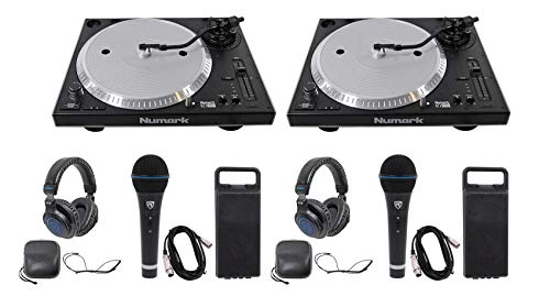 Why Choose (2) Numark NTX1000 Pro High-Torque Direct Drive DJ Turntables+Mics+Headphones