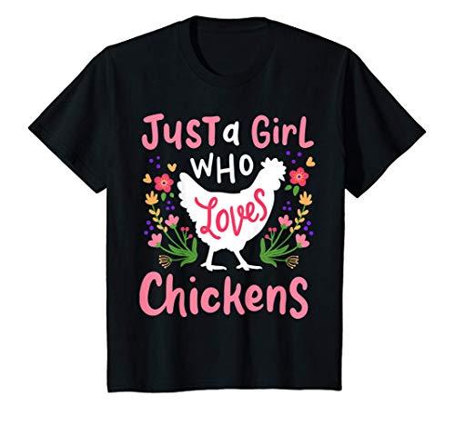 Kids Chicken Hen Love Cute Gift T-Shirt