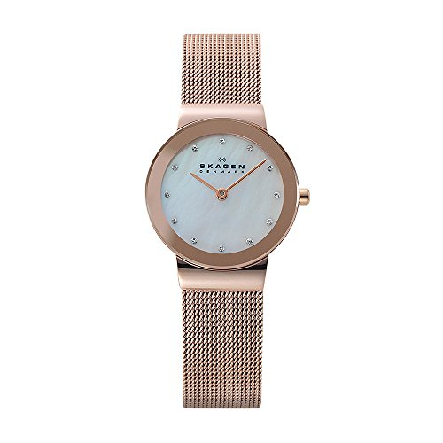 Skagen Women's Ancher Quartz Stainless Steel Dress Watch, Color: Rose Gold-Tone (Model: 358SRRD)
