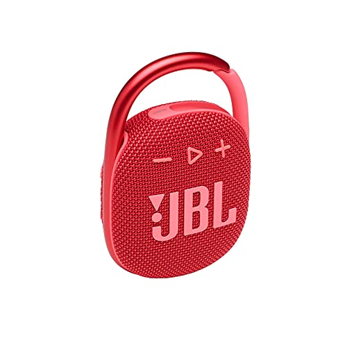 JBL Clip 4 - Portable Mini Bluetooth Speaker, Big Audio and Punchy bass, Integrated Carabiner, IP67 Waterproof and dustproof, 10 Hours of Playtime, Speaker for Home, Outdoor and Travel - (Red)