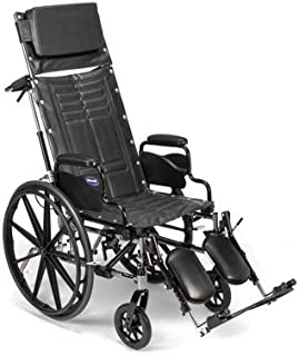 Reclining Manual Wheelchair (Invacare Tracer SX5 Recliner w/Desk-Length Arm and Elevated Legrests - Size 16 x 16)