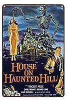 バークラブカフェファームの家の装飾アートポスターのための幽霊の丘の上のヴィンテージの金属錫サインハウス