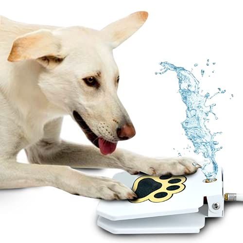 Dog Outdoor Dog Drinking Water Fountain Step On, Easy Paw Activated...