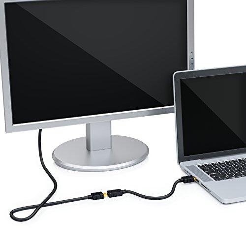 deleyCON 1m HDMI Verlängerung Kabel - Kompatibel zu HDMI 2.0a/b/1.4a - UHD 4K HDR 3D 1080p 2160p ARC - High Speed mit Ethernet - Schwarz