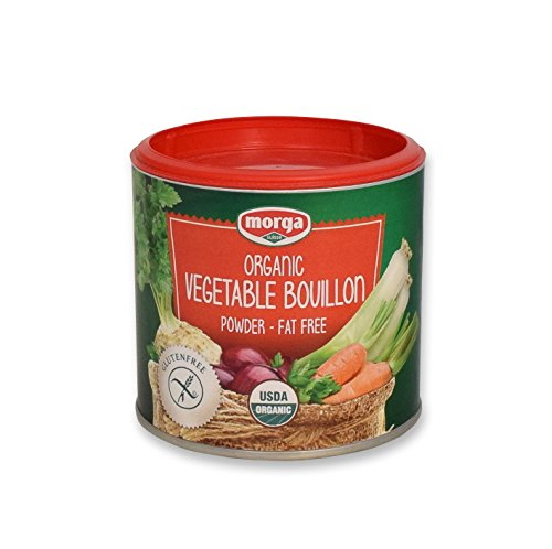 Morga |USDA-ORGANIC| - Vegetable Bouillon Powder • (5.3oz/150g) • [Vegan | Vegetarian | Bullion | Broth | Stock | Base | Soup | Cubes | Herbs | Seasoning | Packets]