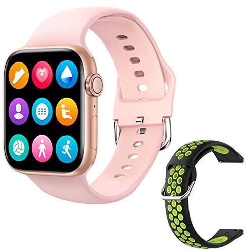 ZGLXZ T800 Smartwatch 1.72 Pulgadas Bluetooth Llamada DIY AIL Aptitud Pulsera Smart Watch para Hombres Y Mujeres PK IWO W46 W56 Series 6 para iOS Android,S