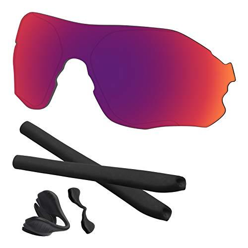 Predrox Midnight Sun Mirror EVZero Range Lenses & Rubber Kits Replacement for Oakley Sunglass OO9327 Polarized