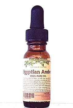 Egyptian Amber Oil Packaged in a 15 ml Amber Glass Dropper Bottle  Pure Strength Concentrated Undiluted Perfume Oil