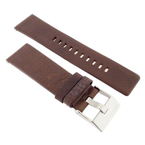 Diesel Uhrband Wechselarmband LB-DZ4340 Original Ersatzband DZ 4340 Uhrenarmband Leder 24 mm Braun