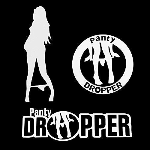 """TOMALL 3 uds 7"""" Panty Dropper calcomanía Reflectante Panty Dropper Sexy Girl Pegatinas Divertidas Pegatinas de Coche de Broma para Parachoques de Coche Ventana portátil"""