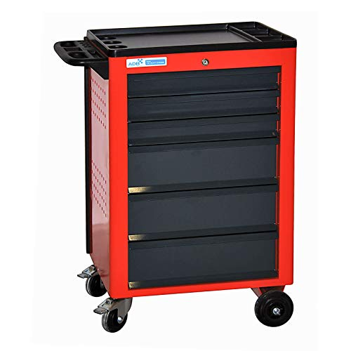 ADB Werkstattwagen BASIC leer rot mit 6 Schubladen