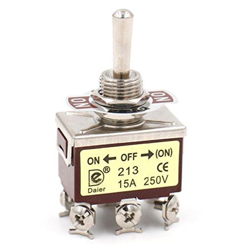 Heschen metal interruptor de palanca DPDT ON/OFF/(ON)