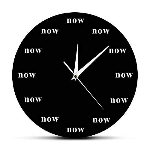 Zeit ist jetzt Kultige Wanduhr Jetzt Zeit Motivierende Uhr Ihre tägliche Erinnerung daran, im Jetzt zu Leben Schätzen Sie Ihre Zeit Kindergeschenk