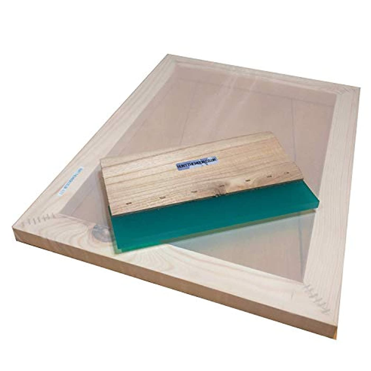 Hunt The Moon Screen Printing Frame and Squeegee Kit, Wooden, Large A3 90t