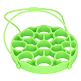 Zerodis Rejilla de Silicona para vaporera de Huevos para Accesorios de ollas instantáneas, Eslinga de ollas a presión para 9 Huevos, Inserto de Cesta de vaporera para Huevos/Bandeja Duros/Blandos