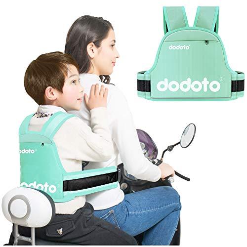 Cintura di Sicurezza per Moto per Bambini,Regolabile Confortevole Cintura di Protezione per Bambini,Con Strisce Riflettenti, Regali per Ragazzi e Ragazze di età Compresa tra 1 e 10 anni (blu)