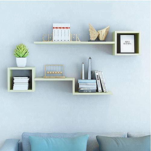 QSAA Home Storage Organizer Boekenkast Bewaar Beeld Ledge Plank Wandplank Wandopknoping Boekenkast Tv Achtergrond Wanddecoratie Wandopknoping Wandrooster [Esdoorn Kleur] 1 Meter Lang