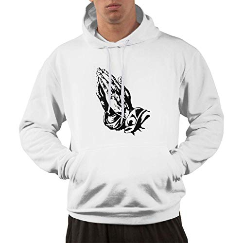 Heyuanqinkeji Adhustable Pocket Hoodie Hooded Print with 6 Pray Hands Ovo Drake Owl Design - Sudadera con Capucha para Hombre