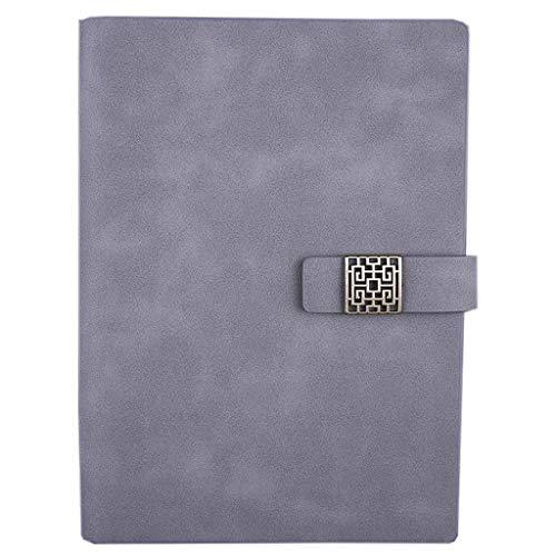 WPBOY Cuadernos Soft Covernotebook A5, Cuaderno de Hojas Sueltas, clásico Escritura portátil, Cuadernos for Las Mujeres, for el Ministerio del Interior Business School, 9.1'x6.6 Cuaderno de Moda