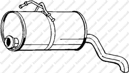 Bosal 135-225 Silencieux arrière