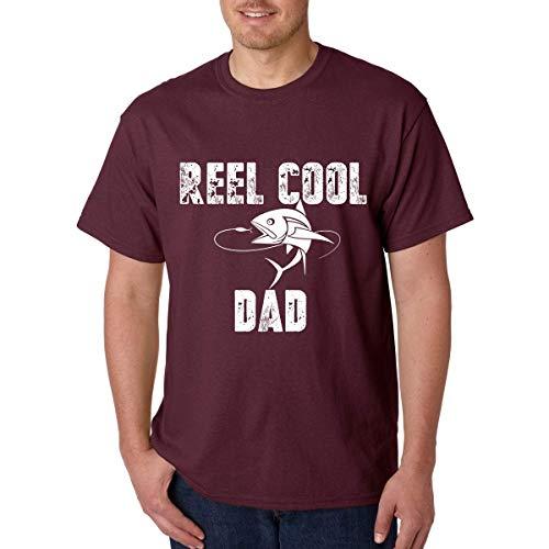 ZQLXD Reel Cool Dad – Papa's Fishing Buddy – Gran regalo para un padre – Divertida broma de pescador – Camiseta para hombre