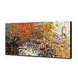 LYDIAMOON Pintura Al Óleo Pintada a Mano Arte Abstracto de la Pared del Paisaje en la Lona para la Decoración de La Pared de la Sala de Estar Decoración del Hogar,40X80inch