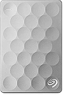 Seagate 1TB Backup Plus Ultra Slim (Platinum) USB 3.0 External Hard Drive for PC/Mac with Seagate Rescue - 2 Year Data Recovery Plan