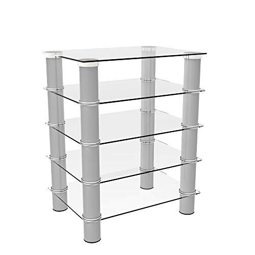 Ryan Rove Hamlin Glass Component Stand in Silver