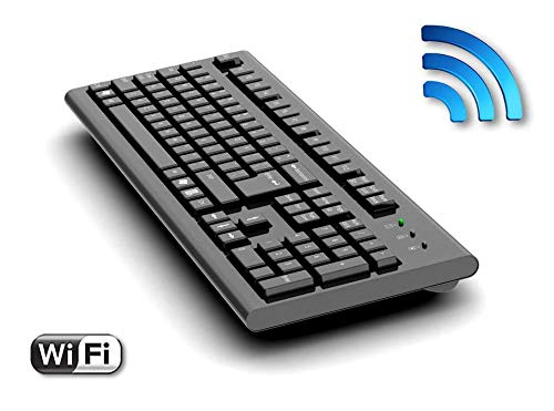 AirDrive Forensische Keyloggertastatur WiFi-Pro – USB-Tastatur mit Integriertem Hardware Keylogger, WiFi, 16MB Flash, Email and Live-Datenübertragung
