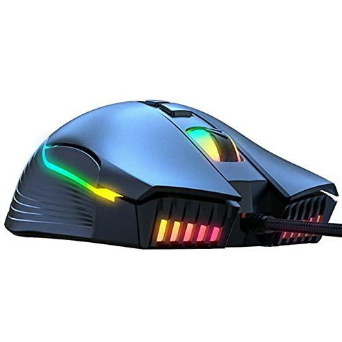 GWN Mouse da Gioco cablato USB ONIKUMA per PC, Mac, Laptop, Computer Desktop Bundle Mouse con 6400 DPI USB cablato